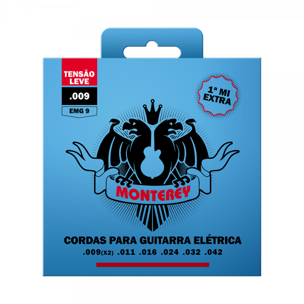 Encordoamento Monterey para guitarra calibre 0.009/0.042