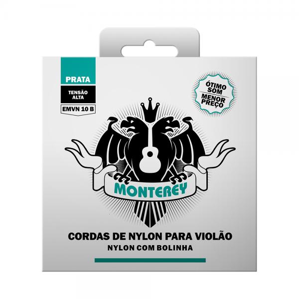 Encordoamento Monterey nylon com bolinha para violão tensão alta