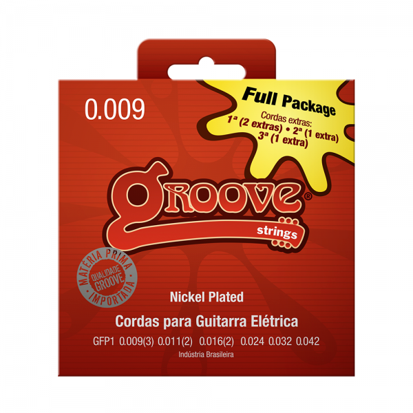 Encordoamento Groove para guitarra calibre 0.009/0.042 Full Package
