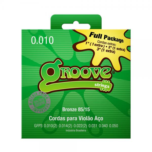 Encordoamento Groove para violão aço calibre 0.010/0.050 Full Package