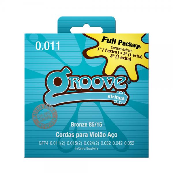 Encordoamento Groove para violão aço calibre 0.011/0.052 Full Package