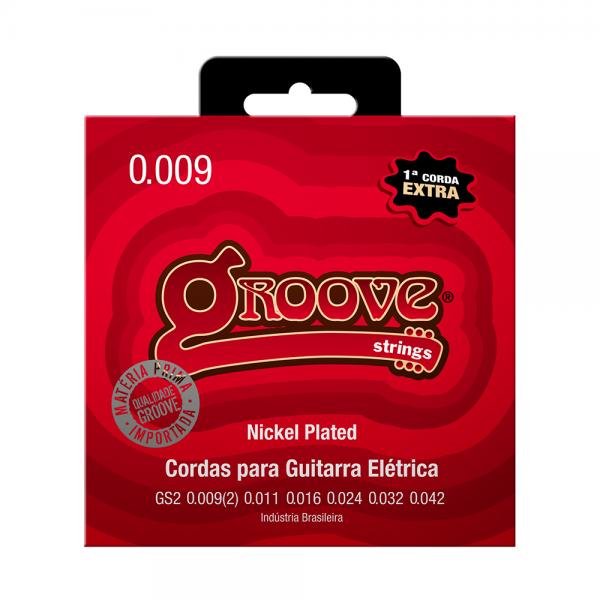 Encordoamento Groove para guitarra calibre 0.009/0.042