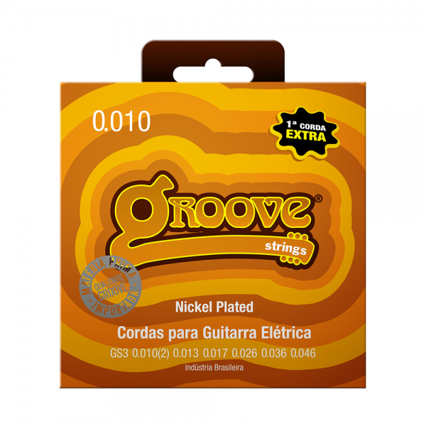 Encordoamento Groove para guitarra calibre 0.010/0.046