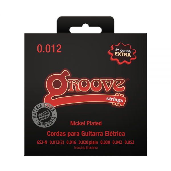 Encordoamento Groove para guitarra calibre 0.012/0.052