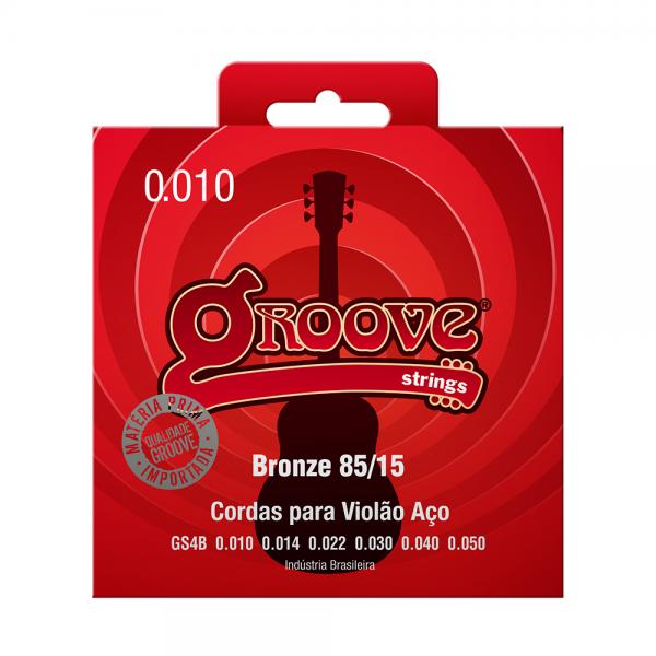 Encordoamento Groove para violão aço calibre 0.010/0.050