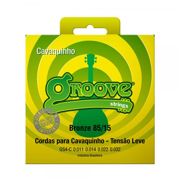 Encordoamento Groove para cavaquinho tensão leve calibre 0.011/0.032