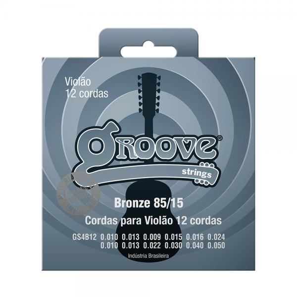 Encordoamento Groove para violão 12 cordas calibre 0.010/0.050