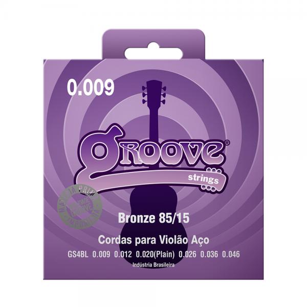 Encordoamento Groove para violão aço calibre 0.009/0.046