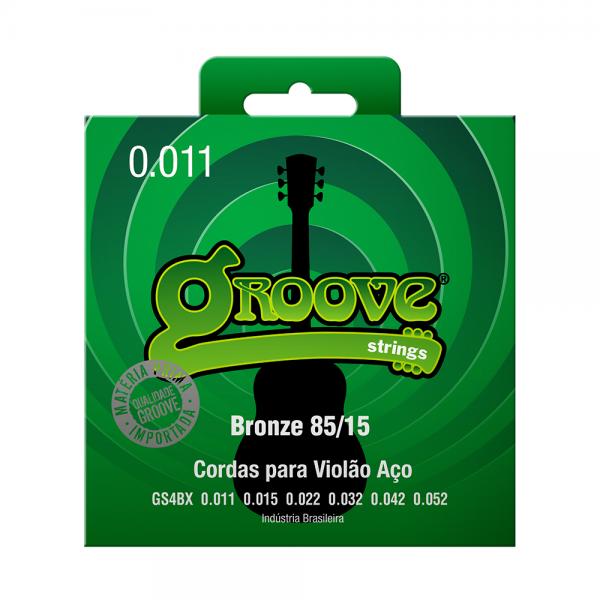 Encordoamento Groove para violão aço bronze calibre 0.011/0.052