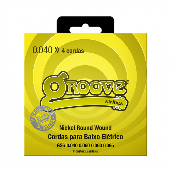 Encordoamento Groove para baixo calibre 0.040/0.095