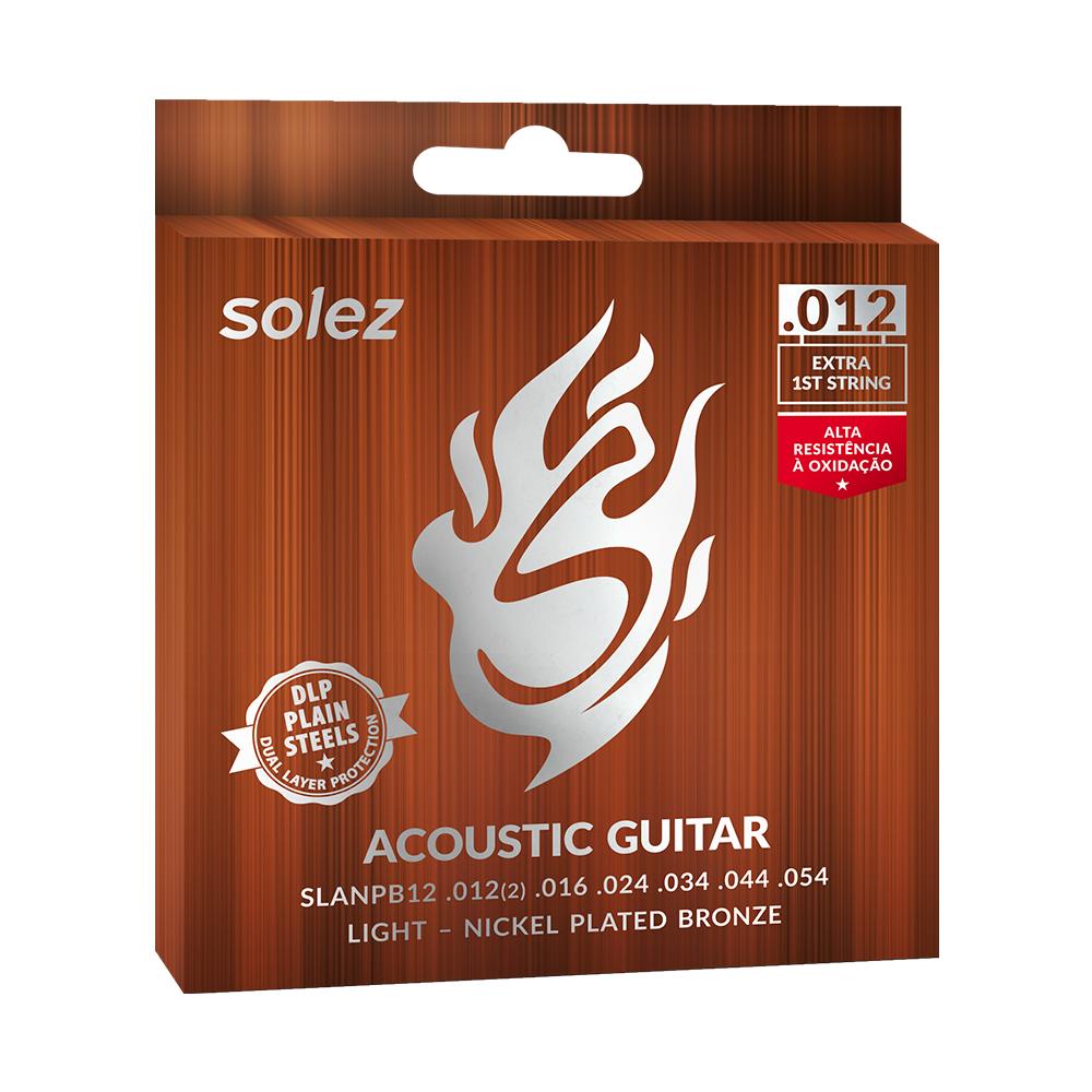 Encordoamento Solez light para guitarra calibre 0.012/0.054