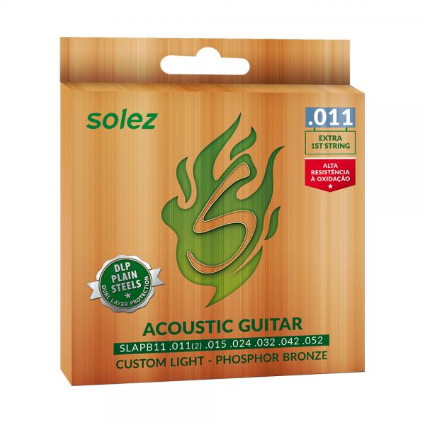 Encordoamento Solez para violão calibre 0.011″/0.052″