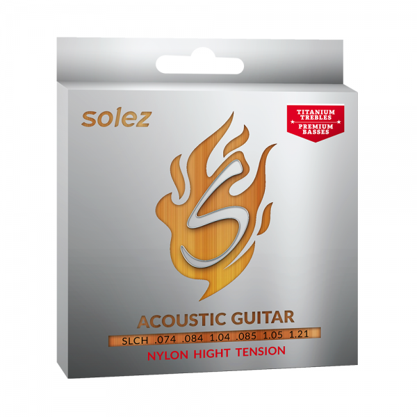 Encordoamento Solez nylon para guitarra calibre 0.074/1.21