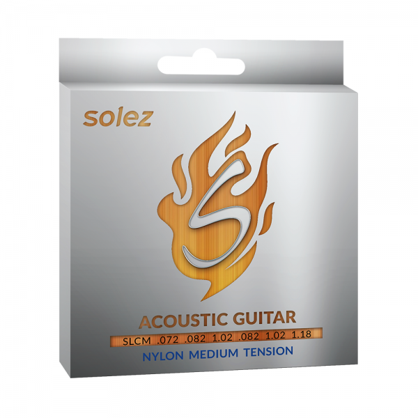 Encordoamento Solez nylon para guitarra calibre 0.072/1.18