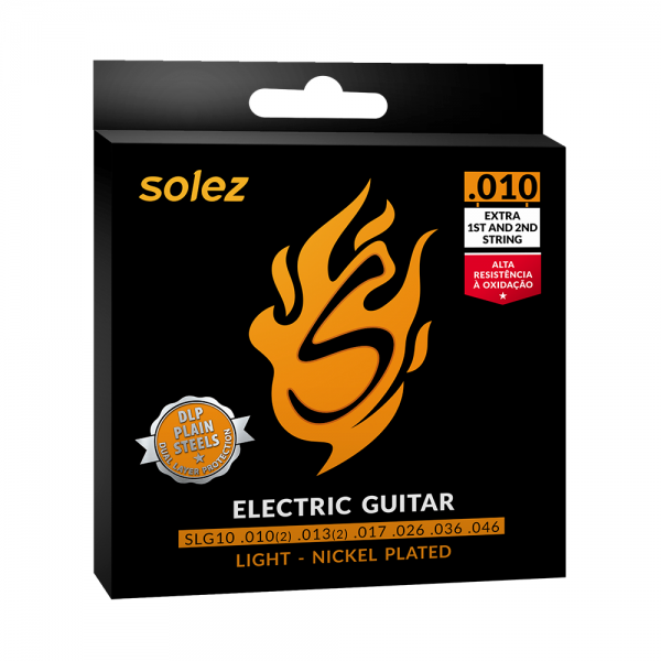 Encordoamento Solez para guitarra calibre 0.010″/0.046″