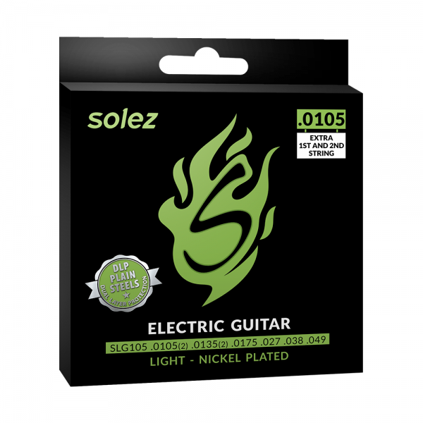 Encordoamento Solez para guitarra calibre 0.0105/0.049