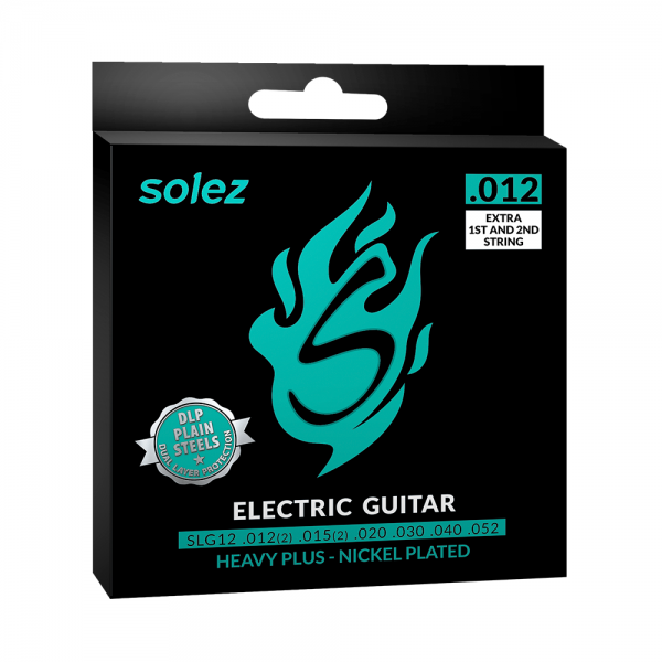 Encordoamento Solez para guitarra calibre 0.012″/0.052″