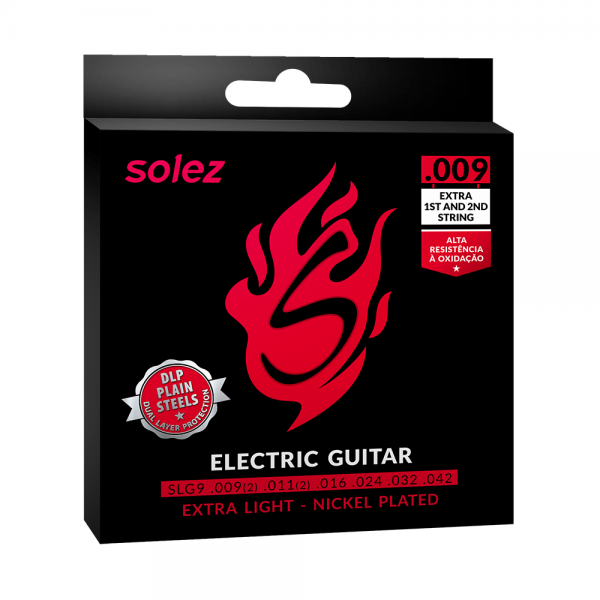 Encordoamento Solez para guitarra calibre 0.009″/0.042″