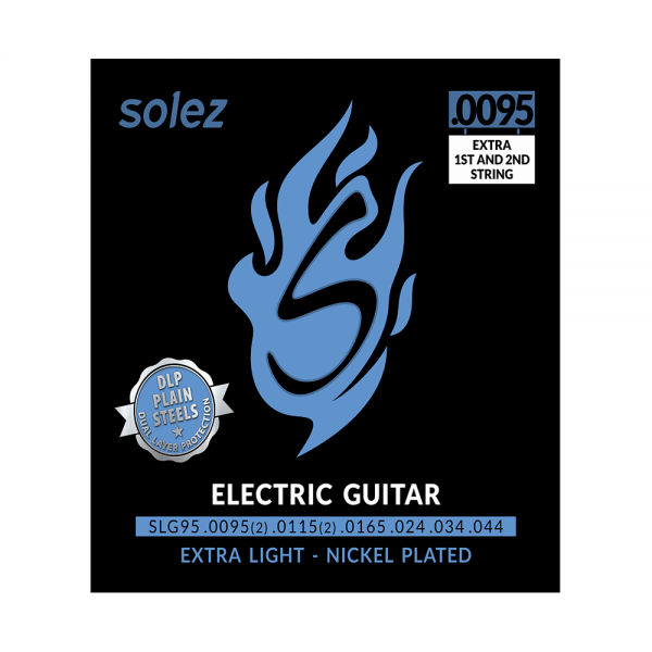 Encordoamento Solez extra light para guitarra calibre 0.0095/0.044