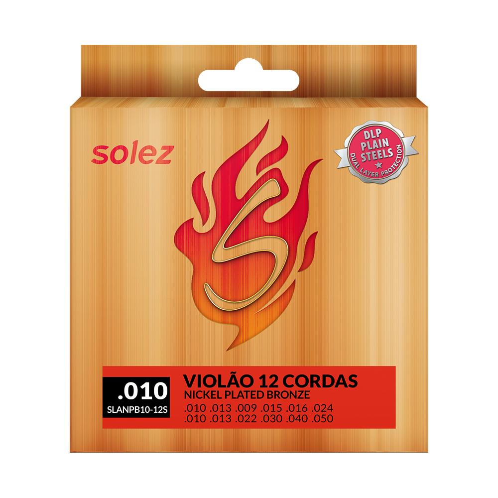 Encordoamento Solez para violão 12 cordas calibre 0.010/0.050