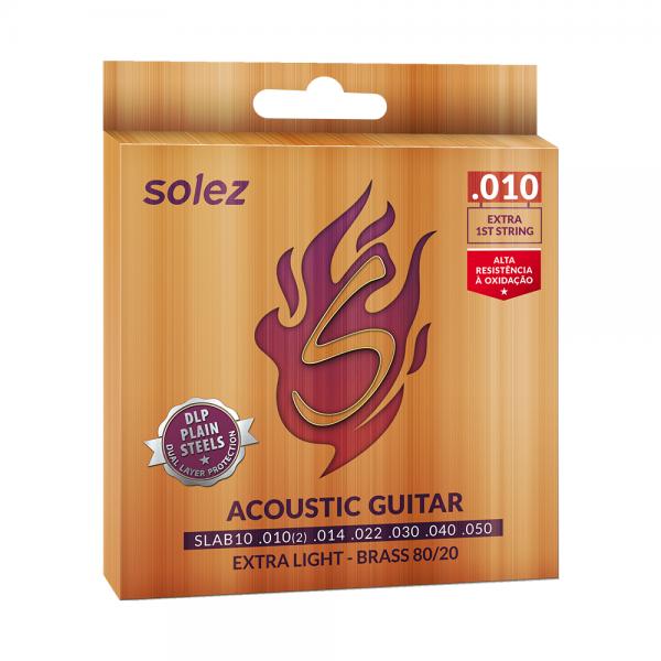 Encordoamento Solez para violão calibre 0.010″/0.050″
