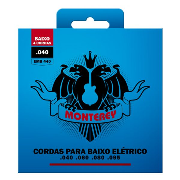 """EMB440 – Encordoamento para Contrabaixo Monterey 4 Cordas / Calibre 0.040"""""""