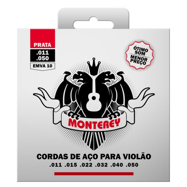EMVA10 – Encordoamento Para Violão Aço Monterey Tensão Normal
