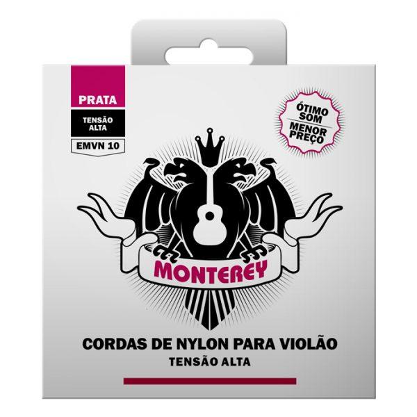 EMVN10 – Encordoamento para Violão Nylon Monterey de Alta Tensão sem Bolinha