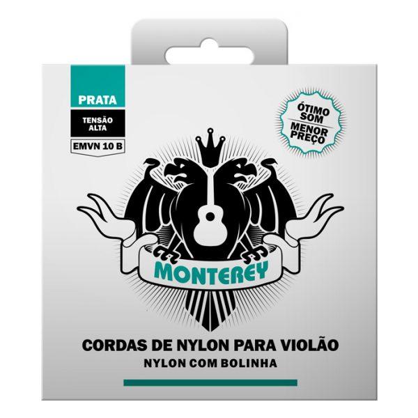 EMVN10B – Encordoamento para Violão Nylon Monterey Alta Tensão com Bolinha