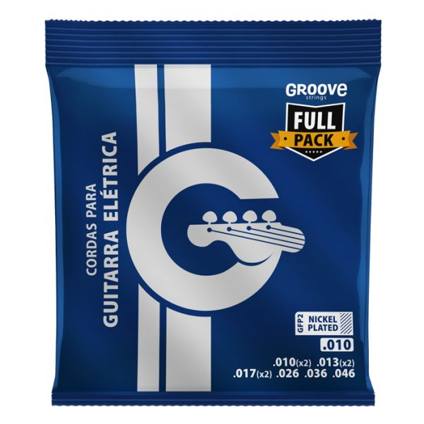 GFP2 - Groove Guitar Strings Full Pack Calibre 0.010 ""