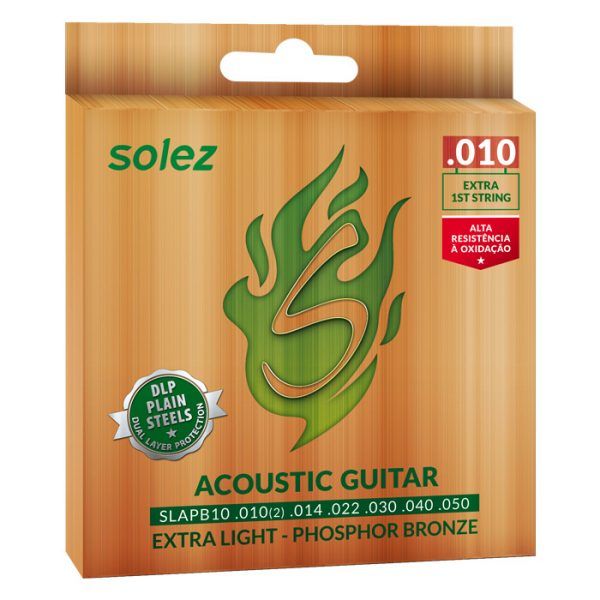 SLAPB10 - Solez Strings for Guitar Phosphor Bronze 92/8 0.010 ""