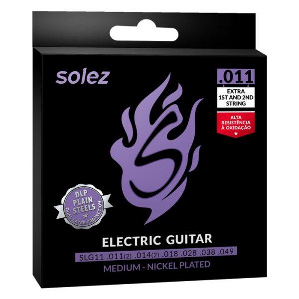 "SLG11 – Encordoamento Solez para guitarra 0.011"""