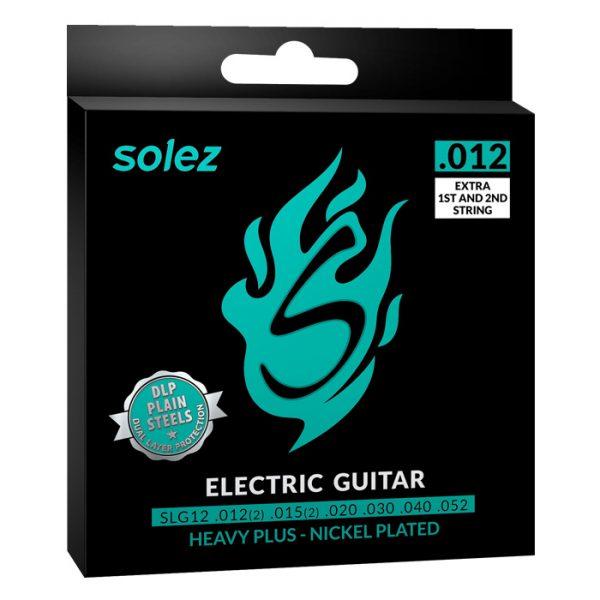 "SLG12 – Encordoamento Solez para guitarra 0.012"""