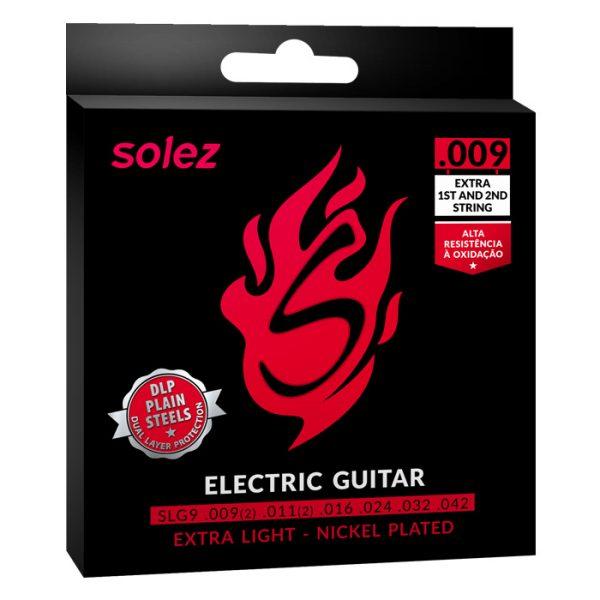 "SLG9 – Encordoamento Solez para guitarra 0.009"""