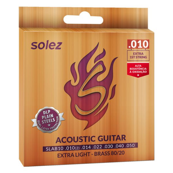 SLAB10 - Solez String for Brass Steel 80/20 Solez 0.010 ""