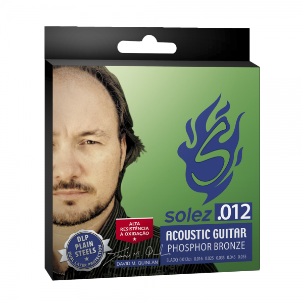 "SLADQ - Solez strings for acoustic steel caliber 0.012 ""Signature David Quinlan."