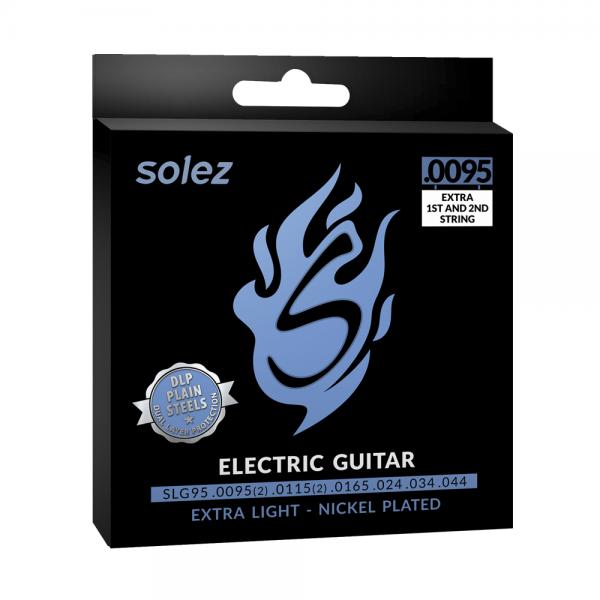 """SLG95 – Encordoamento Solez para guitarra elétrica 0.0095""""/0.044"""""""