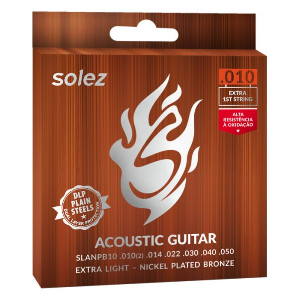 SLANPB10 - Solez Strings for Guitar Steel Nickel Plated Bronze Solez 0.010 ""