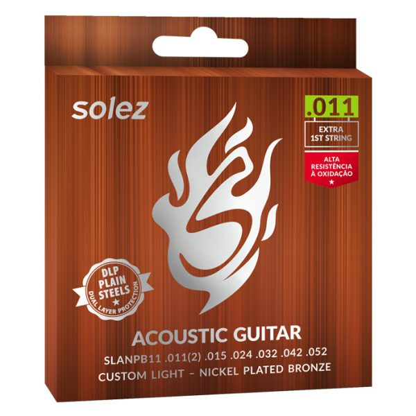 SLANPB11 - Solez Strings for Guitar Steel Nickel Plated Bronze Solez 0.011 ""