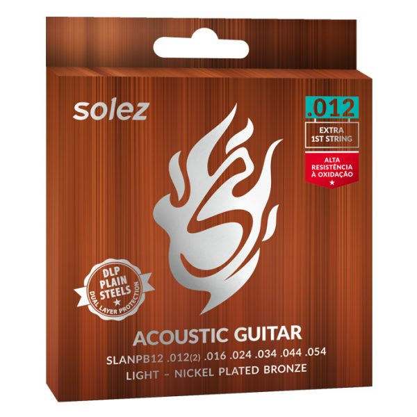 SLANPB12 - Solez Strings for Guitar Steel Nickel Plated Bronze Solez 0.012 ""