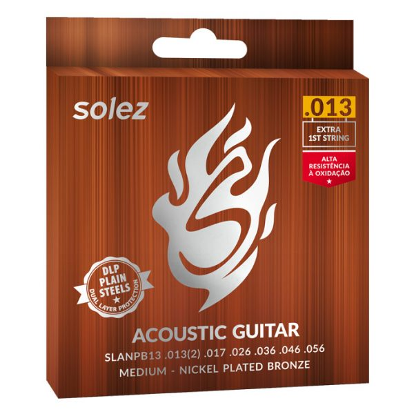 SLANPB13 - Solez Strings for Guitar Steel Nickel Plated Bronze Solez 0.013 ""