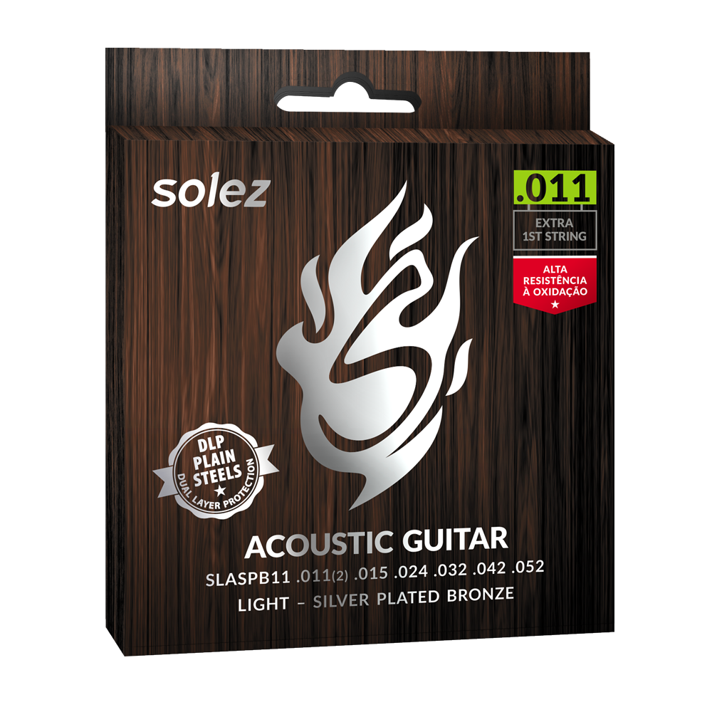 SLASPB11 - Strings Solez For Guitar Steel Silver Plated Bronze Solez 0.011 ""