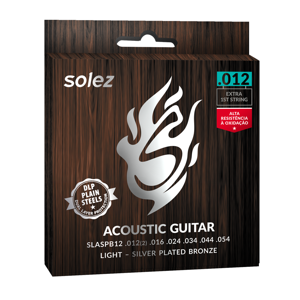 SLASPB12 - Strings Solez For Guitar Steel Silver Plated Bronze Solez 0.012 ""