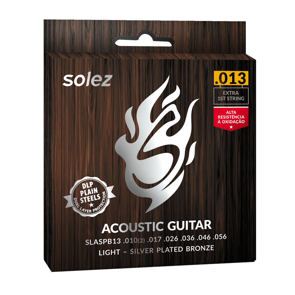 SLASPB13 - Strings Solez For Guitar Steel Silver Plated Bronze Solez 0.013 ""