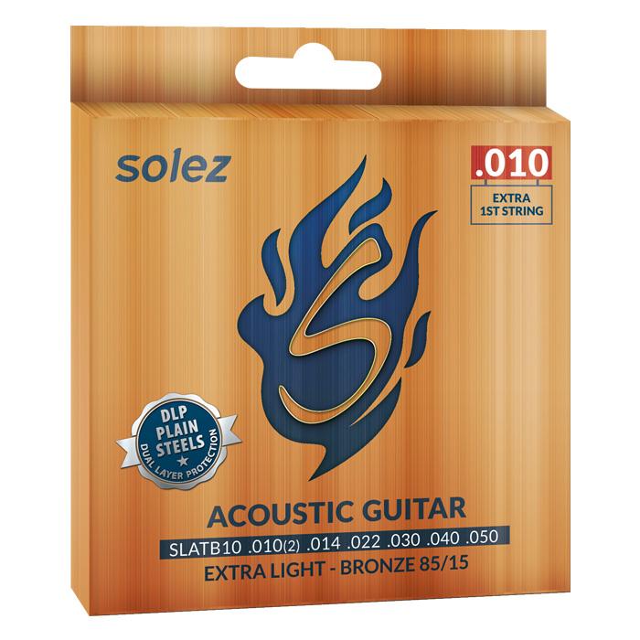 SLATB10 - Cuerda de acero Solez Bronze para guitarra 85/15