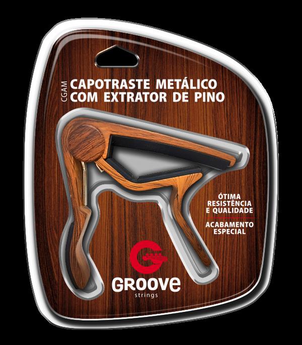 CGAM – CAPOTRASTE METÁLICO COM EXTRATOR DE PINO GROOVE ESTILO MADEIRA